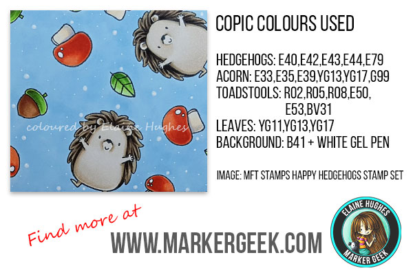 Marker Geek: MFT Stamps Happy Hedgehogs Card