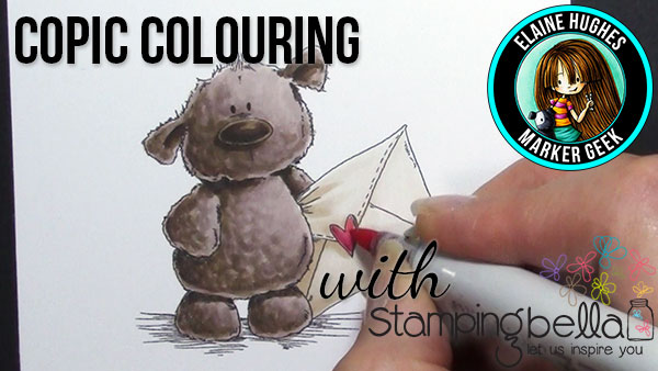 Happy Mail with Harry the Stuffie from Stamping Bella (with colouring video)