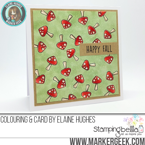 Marker Geek Stamping Bella Little Bits Fall Fruits Collection Toadstool Card