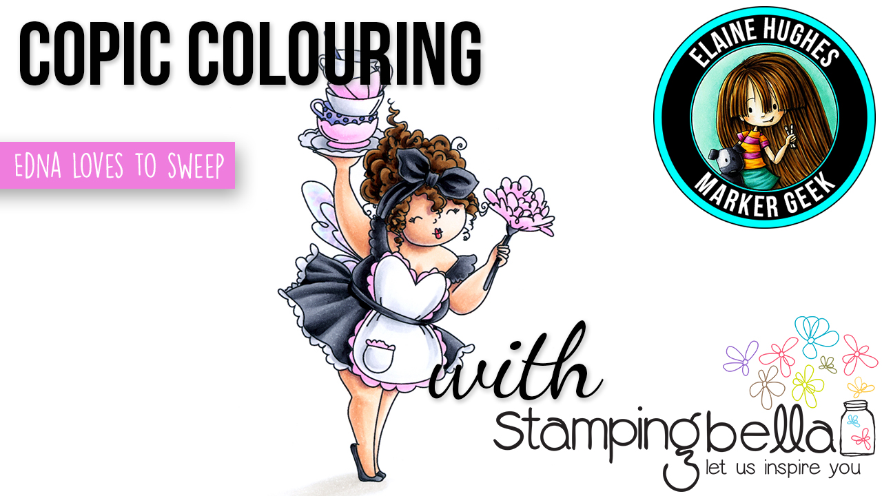Marker Geek: Copic Colouring Stamping Bella Edna loves to Sweep (video)