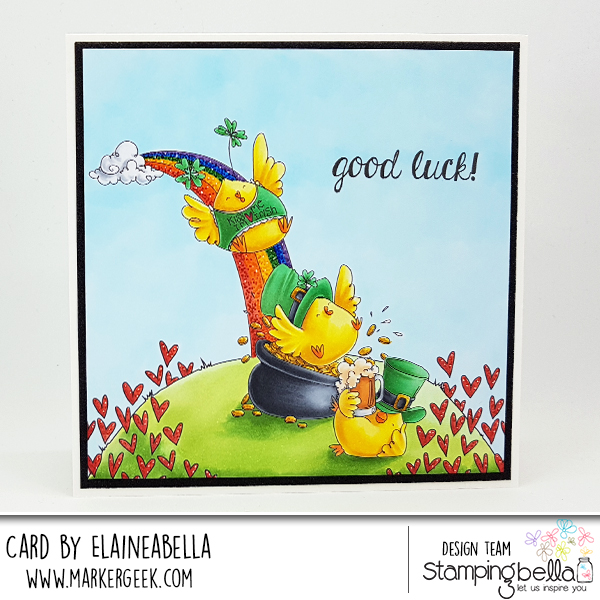 Marker Geek: Stamping Bella Irish Chicks Scene Card & Colouring Video