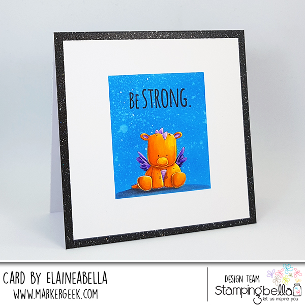 Stamping Bella Cute Dragon Card with Zig Clean Color Real Brush Pens and Video!