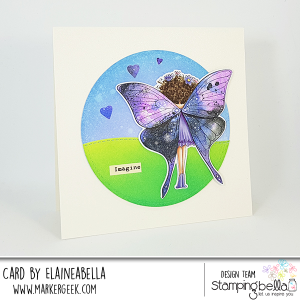 Marker Geek: Distress Oxide Butterfly Wings featuring Stamping Bella Butterfly Girl Babette (with video)