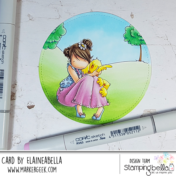 Marker Geek - Copic Colouring Stamping Bella Tiny Townie Heidi needs a Hug (with video)