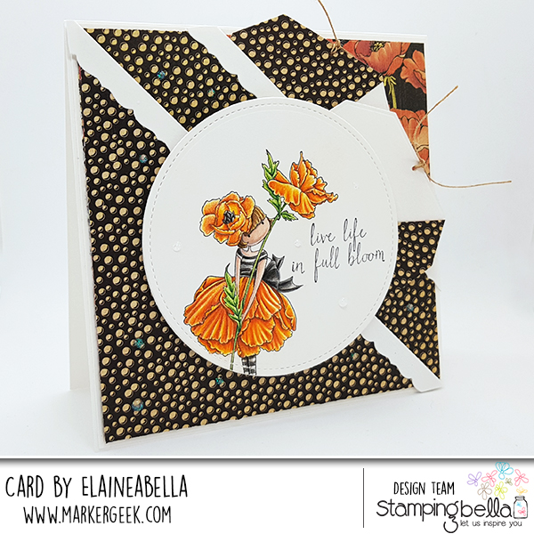 Marker Geek - Stamping Bella - Double Pocket Card with video