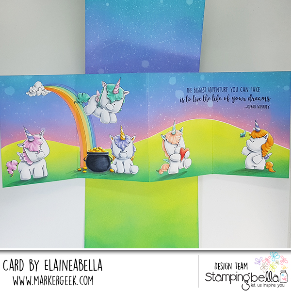 Marker Geek Fairy Tale Twist & Pop Card featuring Stamping Bella (with video)