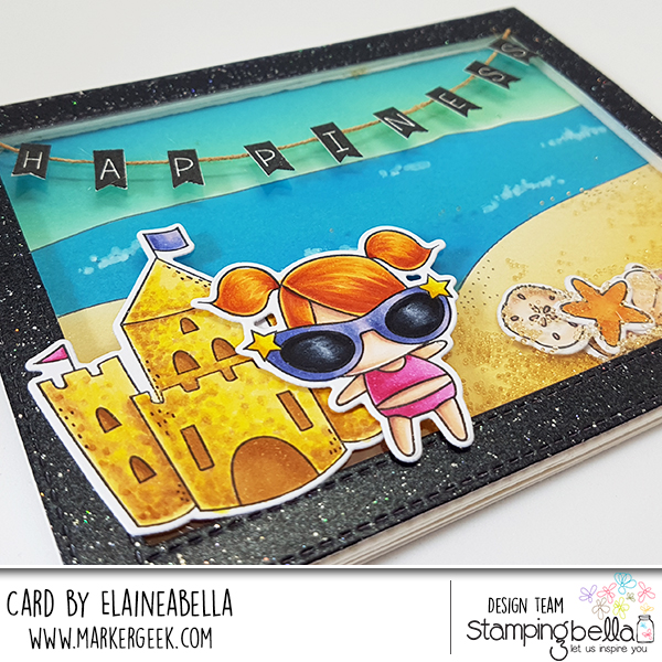 Marker Geek: Littles Summer Beach Scene Shaker Card with Video