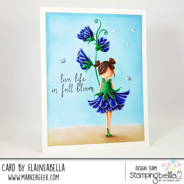Marker Geek - No Line Colouring Stamping Bella Sweet Pea