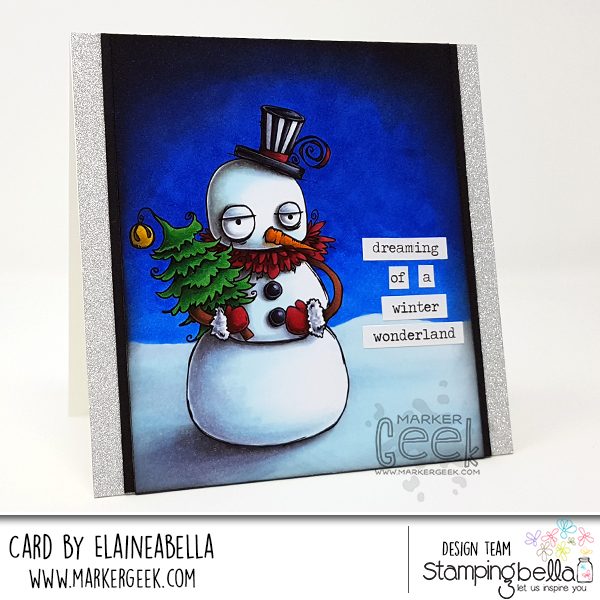 Dreaming of a Winter Wonderland Stamping Bella Oddball Snowman Card