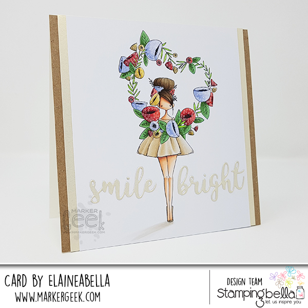 Marker Geek: Smile Bright Card & Copic Colouring Video feat. Stamping Bella