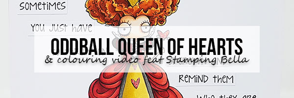 Marker Geek Oddball Queen of Hearts Card & Colouring Video