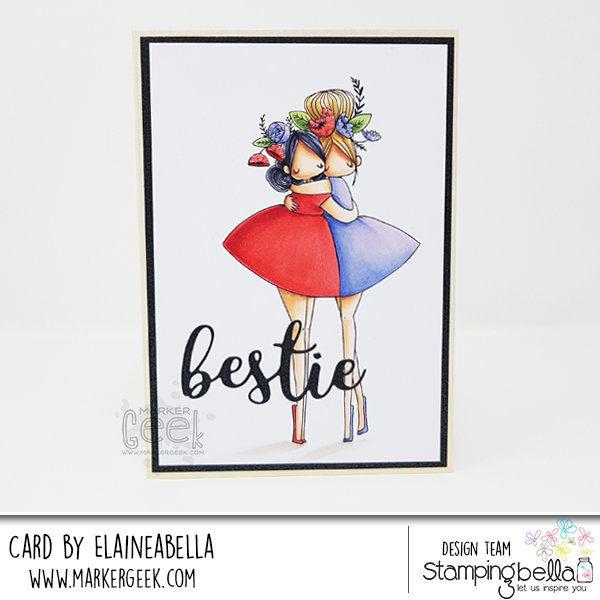 Marker Geek: Stamping Bella Curvy Girl Besties Card & Copic Colouring Video