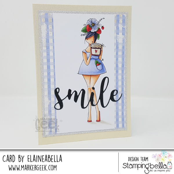 Marker Geek: Stamping Bella Curvy Girl loves Jam Card & Copic Colouring Video