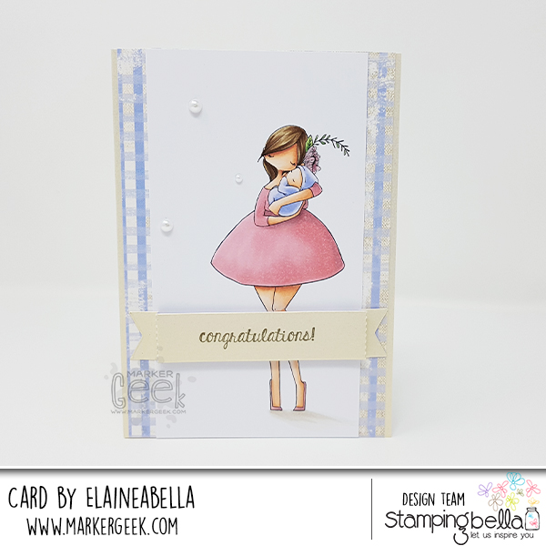 Marker Geek: Stamping Bella Curvy Girl with a Newborn Card & Copic Colouring Video
