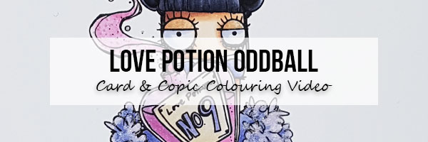 Marker Geek: Stamping Bella Love Potion Oddball Card & Copic Colouring Video