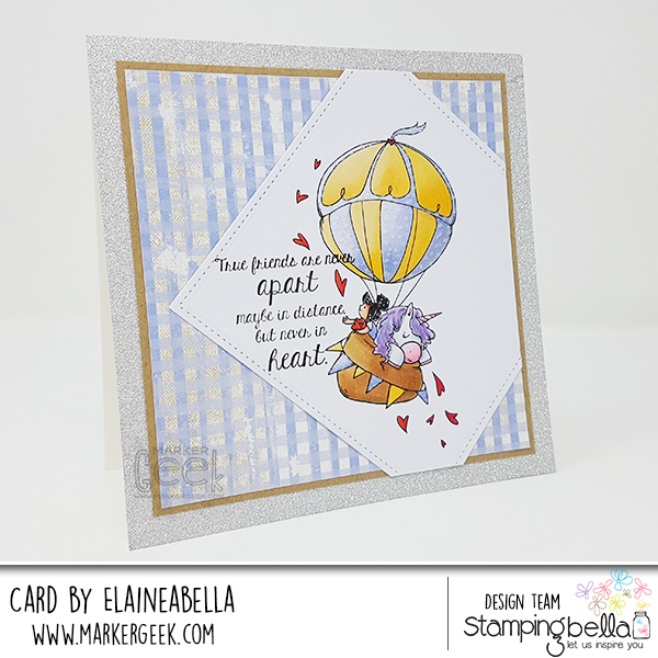 Marker Geek: Stamping Bella Up Up & Away Rosie & Bernie Card & Copic Colouring Video