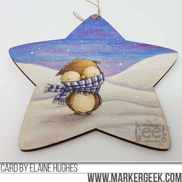 Marker Geek: Warm and Feathered Hugs Star Decoration (Stacey Yacula MFT Stamps)