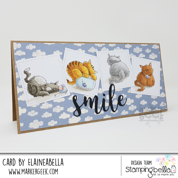Marker Geek: Stamping Bella Set of Kitties Card & Copic Colouring Video