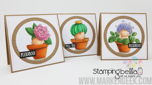 Marker Geek: Stamping Bella Baby Baby Notecard Set & Copic Colouring Videos