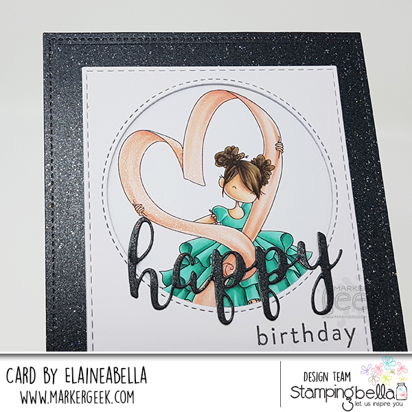 Marker Geek: Stamping Bella Tiny Townie Raven loves Ribbon Card & Colouring Video