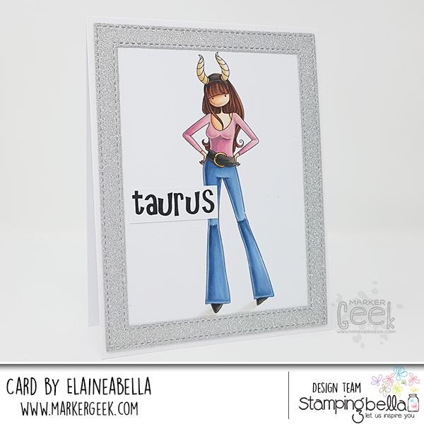 Marker Geek: Stamping Bella Uptown Zodiac Girl Taurus Card & Copic Colouring Video