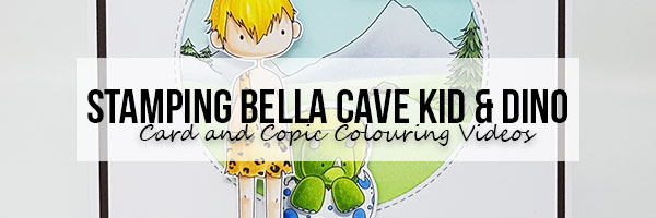 Marker Geek: Stamping Bella Dinos & Cave Kids Cards & Colouring Videos