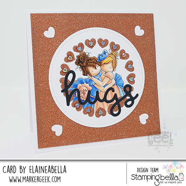 Marker Geek: Stamping Bella Tiny Townie Huggy Friends Card & Copic Colouring Video