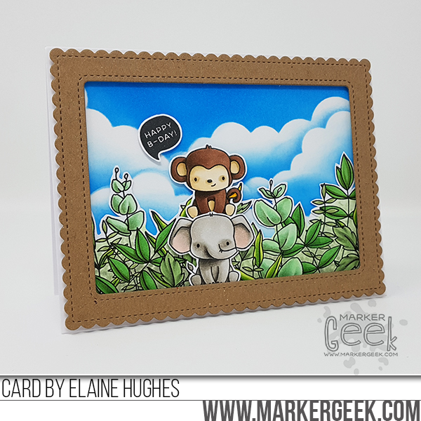 Marker Geek: Mama Elephant Stackable Cuties Scene Card