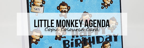 Marker Geek: Mama Elephant Little Monkey Agenda Birthday Card