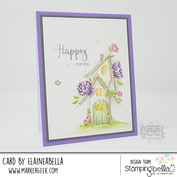 Marker Geek: Stamping Bella Fairy House New Home Card