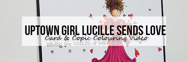 Marker Geek: Stamping Bella Lucille Sends Love Card & Copic Colouring Video
