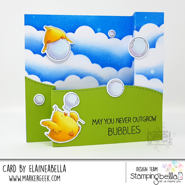 Marker Geek: Stamping Bella Bubble Chicks Wiper Surprise Card