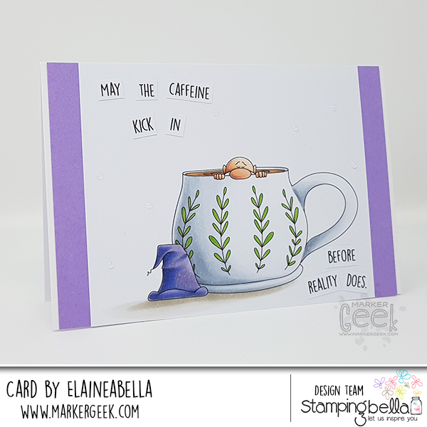 Marker Geek: Stamping Bella Caffeinated Gnome Card