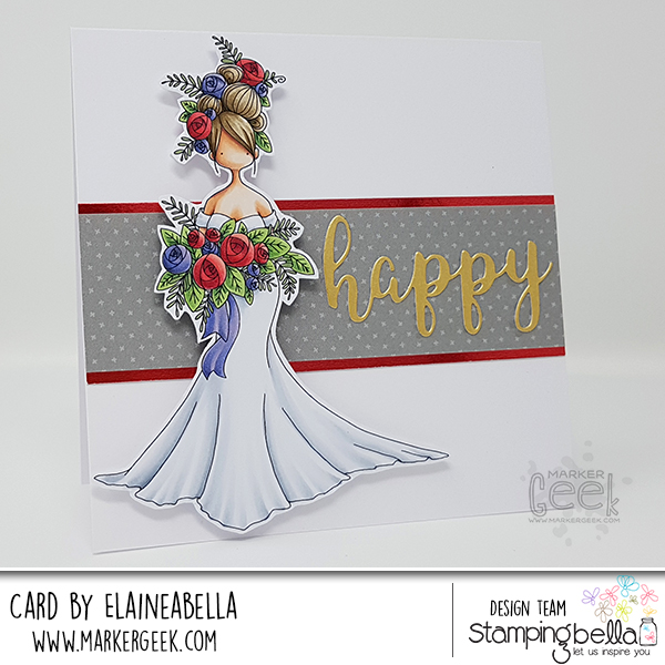 Marker Geek: Stamping Bella Curvy Girl Bride Card & Copic Colouring Video