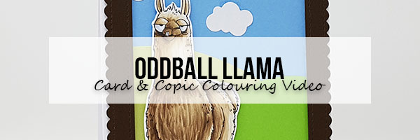 Marker Geek: Stamping Bella Oddball Llama Card & Copic Colouring Video