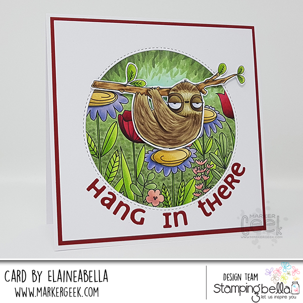 Marker Geek: Stamping Bella Oddball Sloth Card & Copic Colouring Video