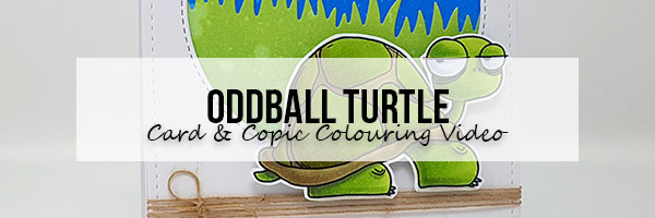 Marker Geek: Stamping Bella Oddball Turtle Card & Copic Colouring Video