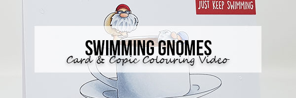 Marker Geek: Stamping Bella Swimming Gnomes Card