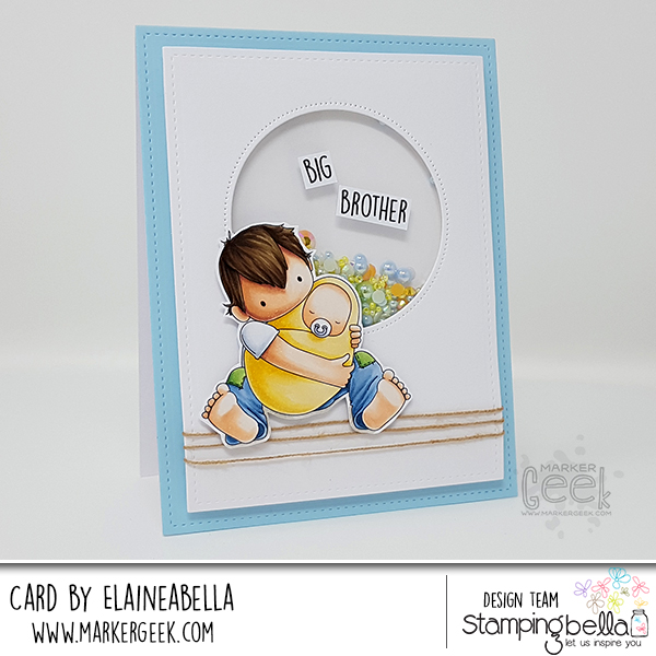 Marker Geek: Stamping Bella Tiny Townie Big Brother Card