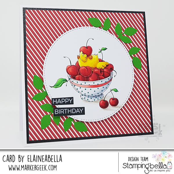Marker Geek: Stamping Bella Cherry Chick Card & Copic Colouring Video
