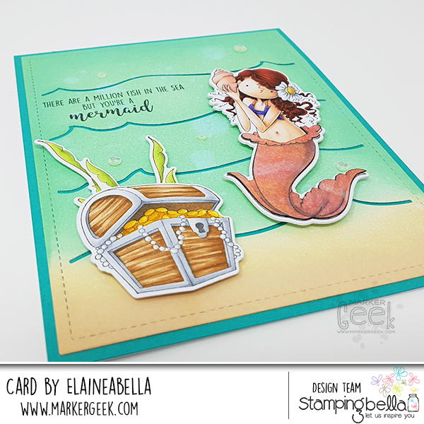 Marker Geek: MerMay Stamping Bella Tiny Townie Mermaid Card