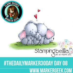 Stamping Bella Ellie Loves Phant Stuffies #thedailymarker30day Click through to read the blog post and get a Copic Colour Map!