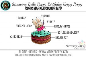 Stamping Bella Happy Birthday Hoppy Poppy The Daily Marker 30 Day Challenge Copic Colour Map www.markergeek.com