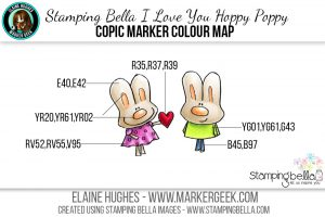 Stamping Bella Love You Hoppy Poppy #thedailymarker30day Click through to read the blog post!