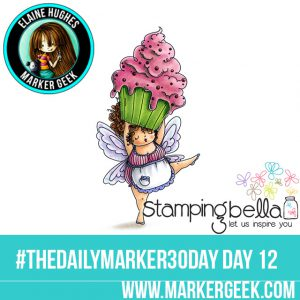 Stamping Bella Edna with a Cupcake on Top #thedailymarker30day Click through for Copic Colour Maps and videos!