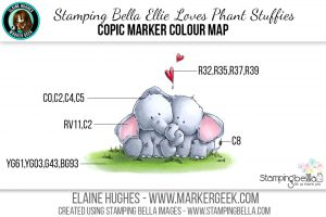 Stamping Bella Ellie Loves Phant Stuffies #thedailymarker30day Click through to read the blog post!