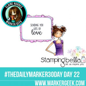 Stamping Bella Uptown Girl Curly Clara. #thedailymarker30day Click through for Copic Colour Maps and videos!