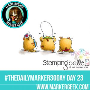 Stamping Bella Sweaty Chicks #thedailymarker30day Click through for Copic Colour Maps and videos!