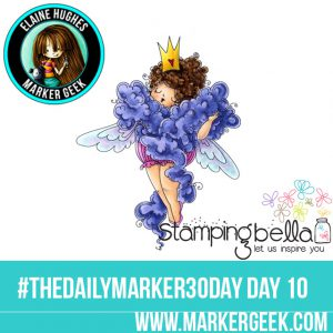 Stamping Bella Edna the Diva #thedailymarker30day Click through for Copic Colour Maps and videos!